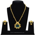 Gold Plated Chain with Fancy Pendant & Ear Stud
