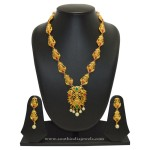 Gold Plated Lakshmi Necklace Designs from SFJ
