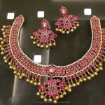 Gold Plated Pure Silver Ruby Necklace