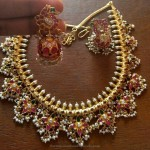 Gold Plated Silver Guttapusalu Necklace Design
