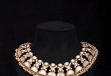 Gold Polish Pearl Choker Necklace from Arnav