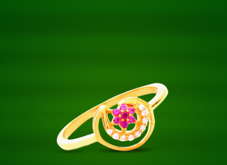 22K Gold Ring Design from GRT Jewellers
