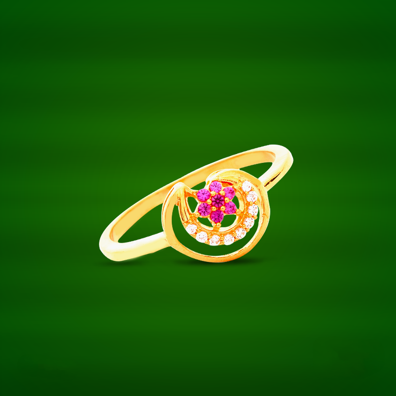 22K Gold Ring Design from GRT Jewellers South India Jewels