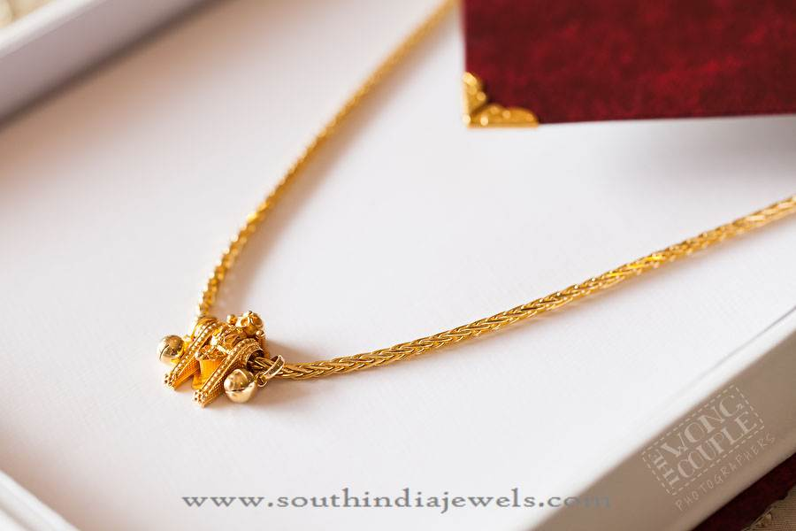 Gold Thali Kodi Mangalsutra Design South India Jewels