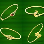 Gold Simple And Light Weight Bracelet Designs from GRT
