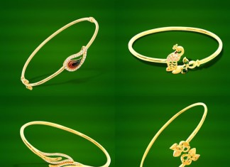 Gold Light Weight Bracelet Designs from GRT