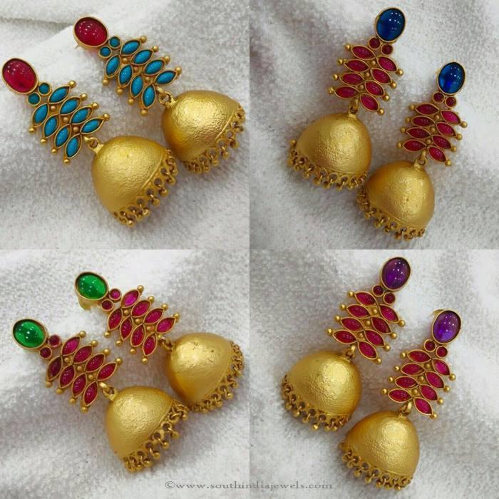 Imitation Stone Jhumka Models