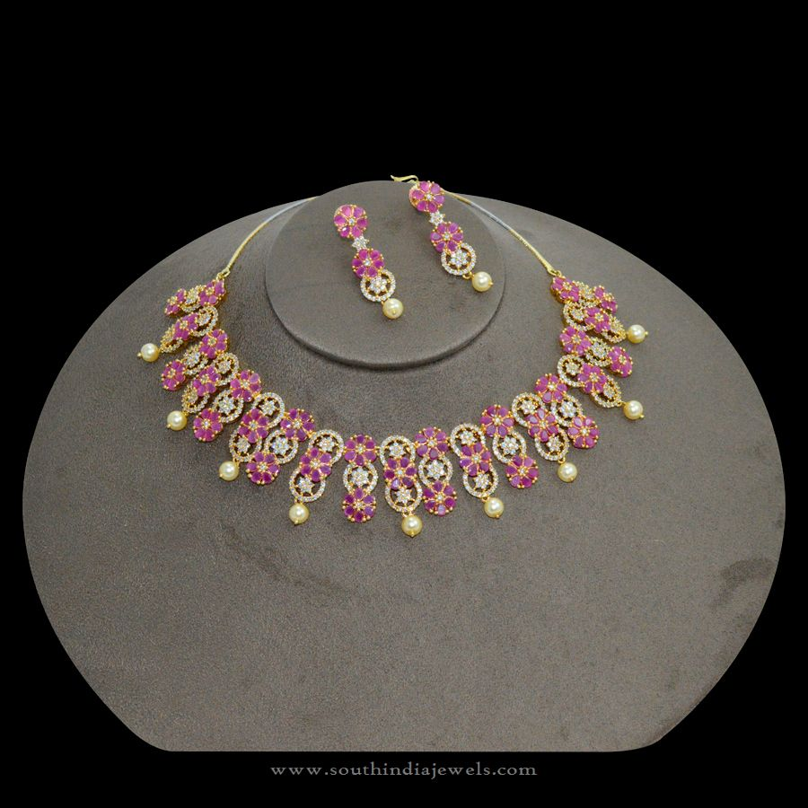 Indian-Ruby-Necklace-Design-Rs5500