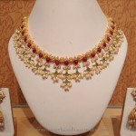 Light Weight Pearl Choker Necklace with Jhumka