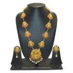 Long Temple Lakshmi Necklace Set from SFJ
