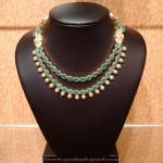 Multilayer Gold Emerald Necklace from NAJ