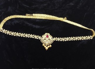 One Gram Gold Plated Hip Chain