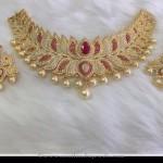 One Gram Gold Plated Lotus Choker