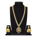 Semi Precious Stone Long Necklace