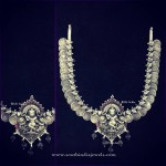 Pure Silver Shree Krishna Nakshi Coin Necklace