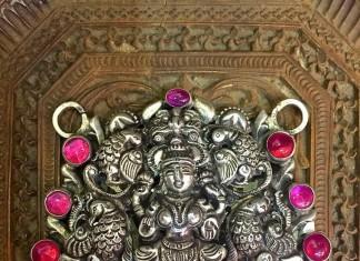 Silver Lakshmi Pendant from Arnav