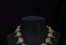 Silver Peacock Necklace Design