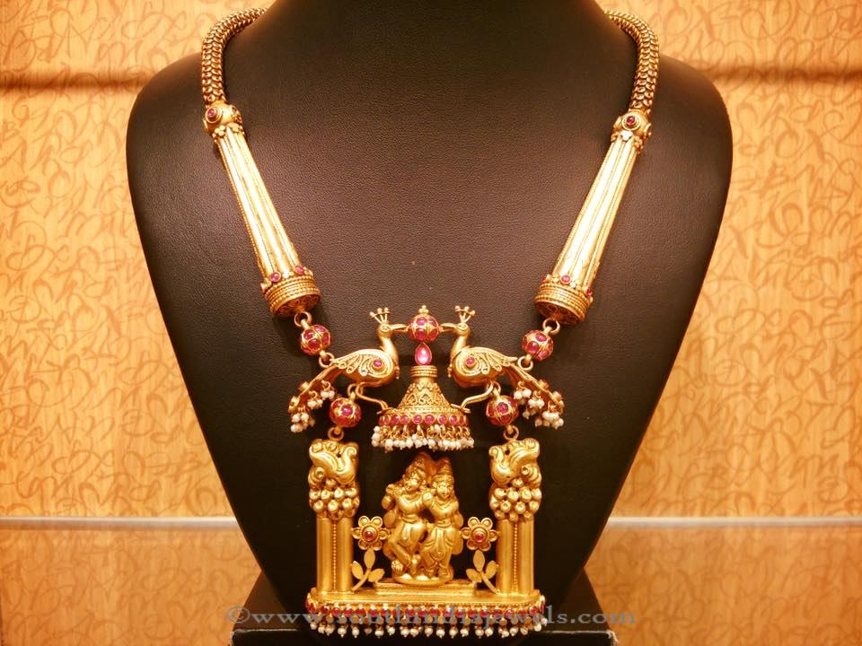 Traditional Gold Temple Necklace from NAJ