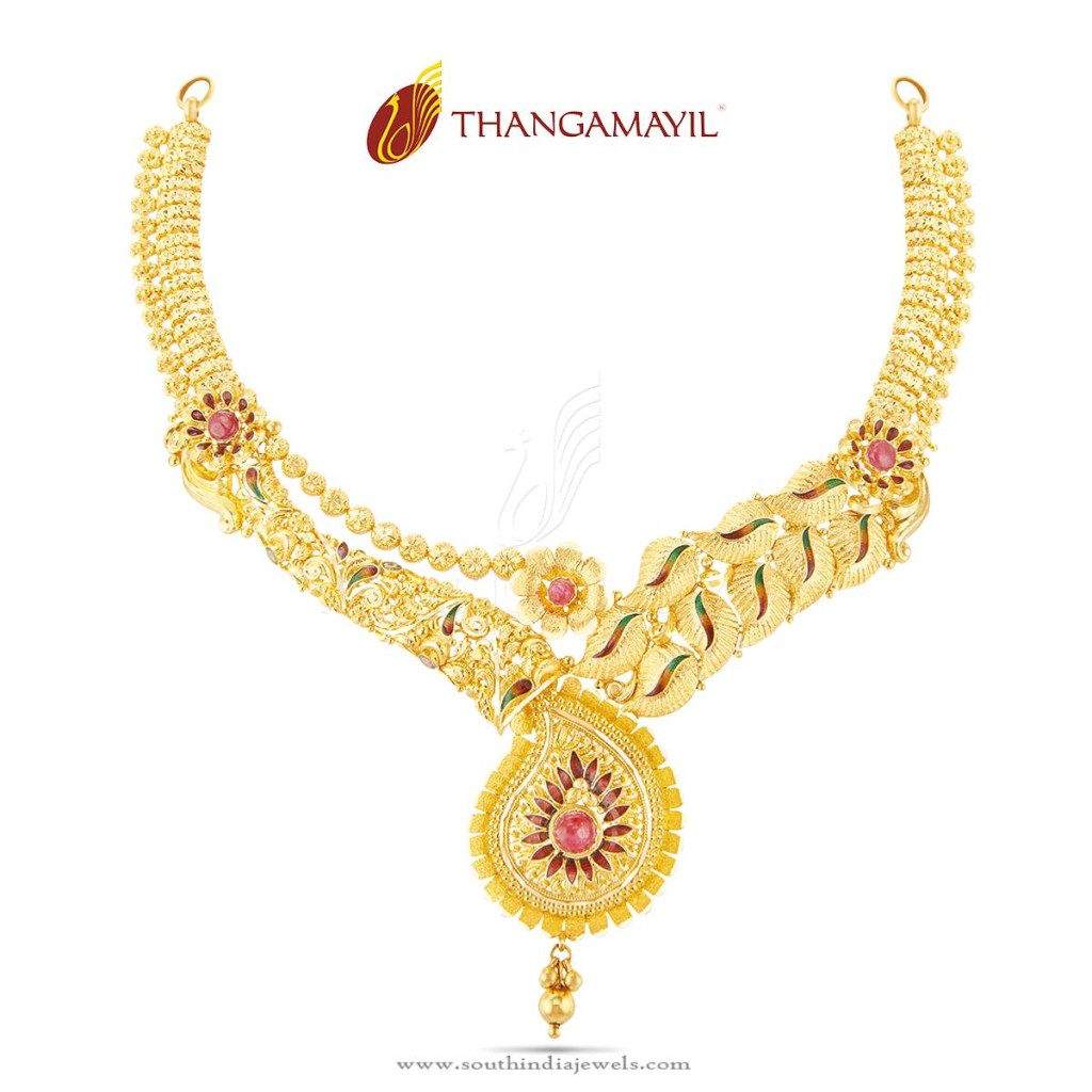 Traditional Gold Wedding Necklace Design