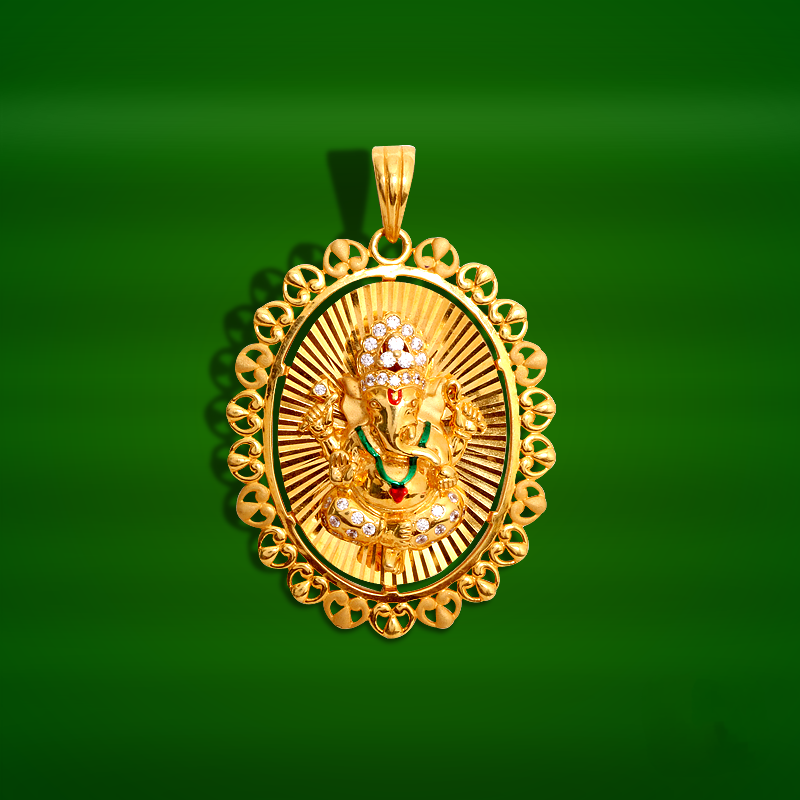 Gold ganesh pendant from grt south india jewels gold ganesh pendant from grt aloadofball Image collections
