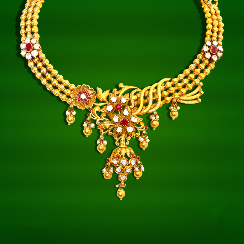 61b1abf8a3044 Gold Necklace Design from GRT ~ South India Jewels