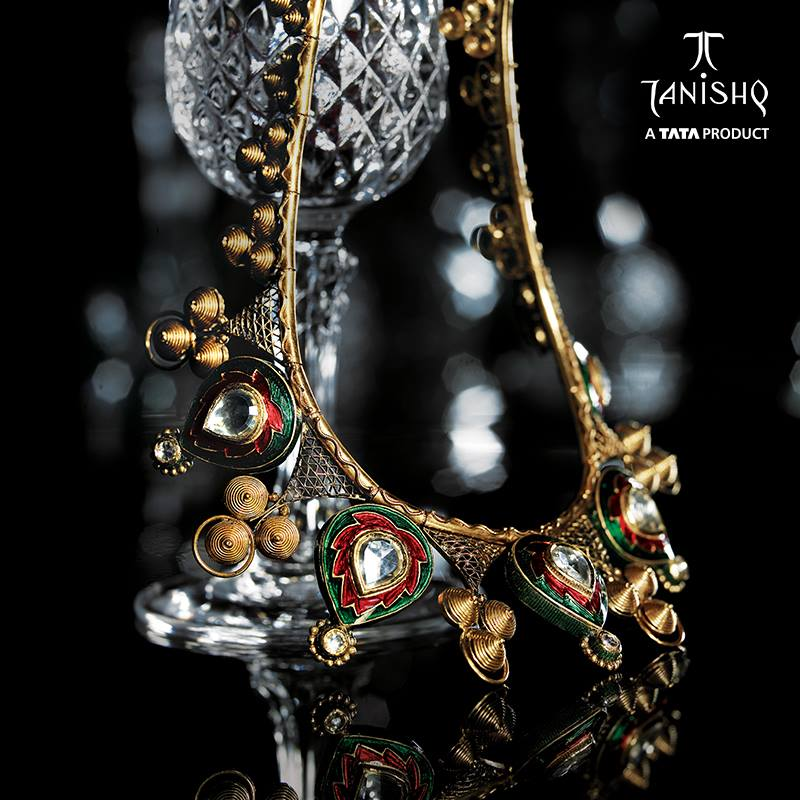 Gold Uncut Diamond Necklace from Tanishq ~ South India Jewels