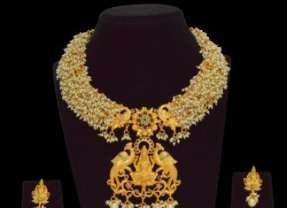 1 Gram Gold Pearl Temple Necklace