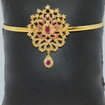 Gold Plated Ruby Bajubandh