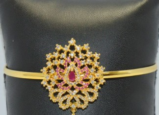 Gold Plated Ruby Bajuband
