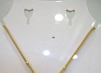 22K Gold Chain Necklace with Pendant