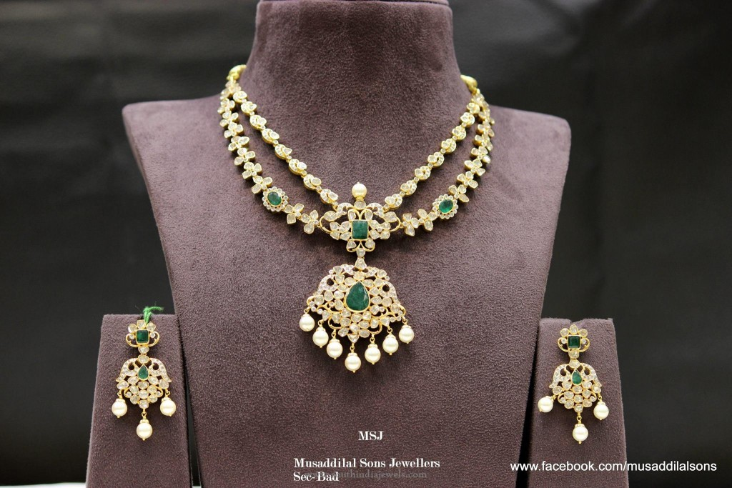 22k Gold Necklace Earrings Sets
