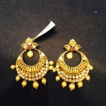 22K Gold Simple Chandbali Earrings Design