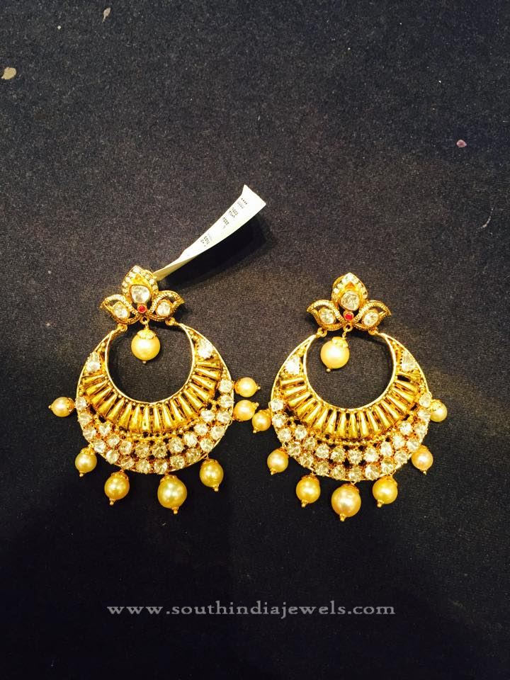 Light Weight Gold Earrings Designs ~ South India Jewels