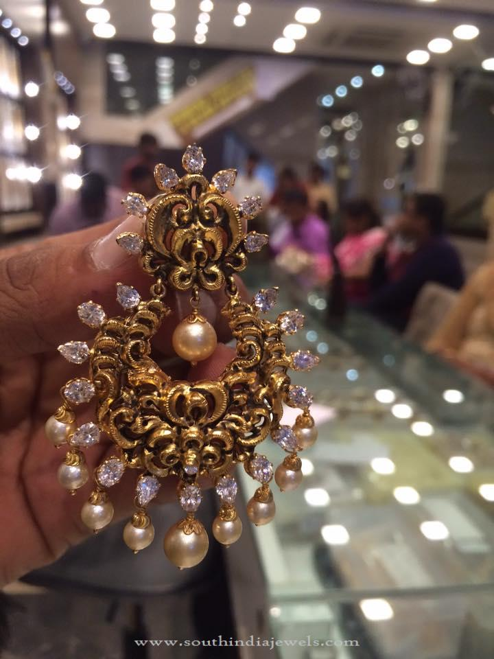 30 Grams Gold Chandbali Earrings