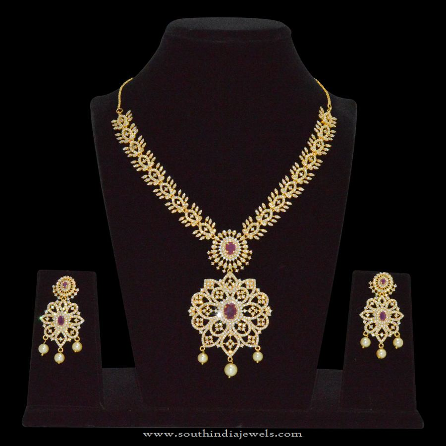 Grand One Gram Gold Stone Necklace Sets