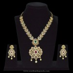 Grand White Stone Necklace Sets