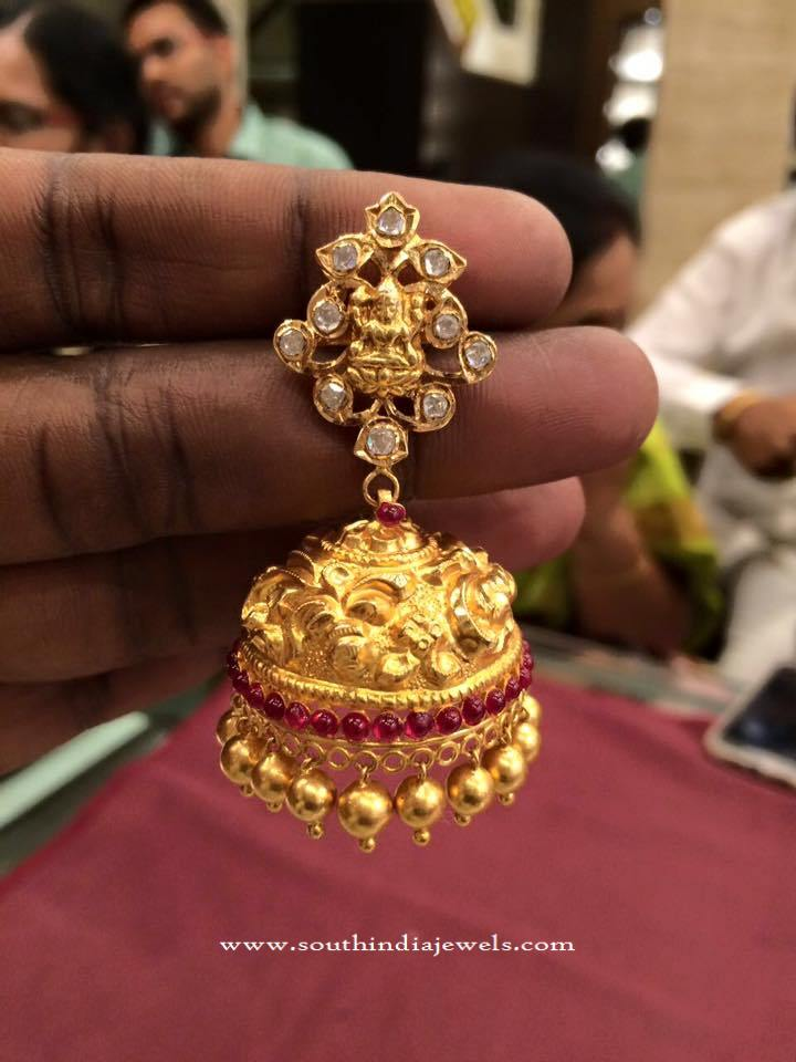 40 Grams Gold Lakshmi Jhumka