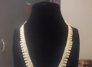 Bridal Diamond Long Necklace Model
