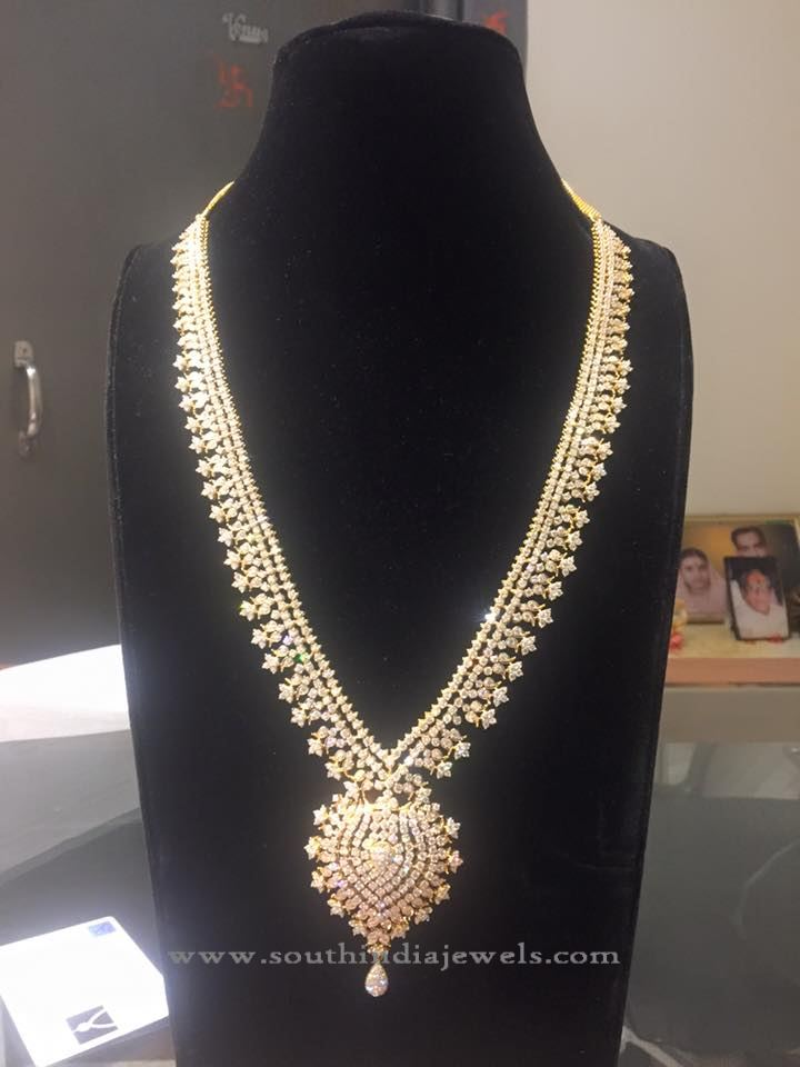 Bridal Diamond Long Necklace Model