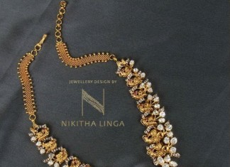 Designer Gold Antique Necklace Sets