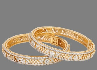 Diamond Bangle Design From Lalitha Jewellery