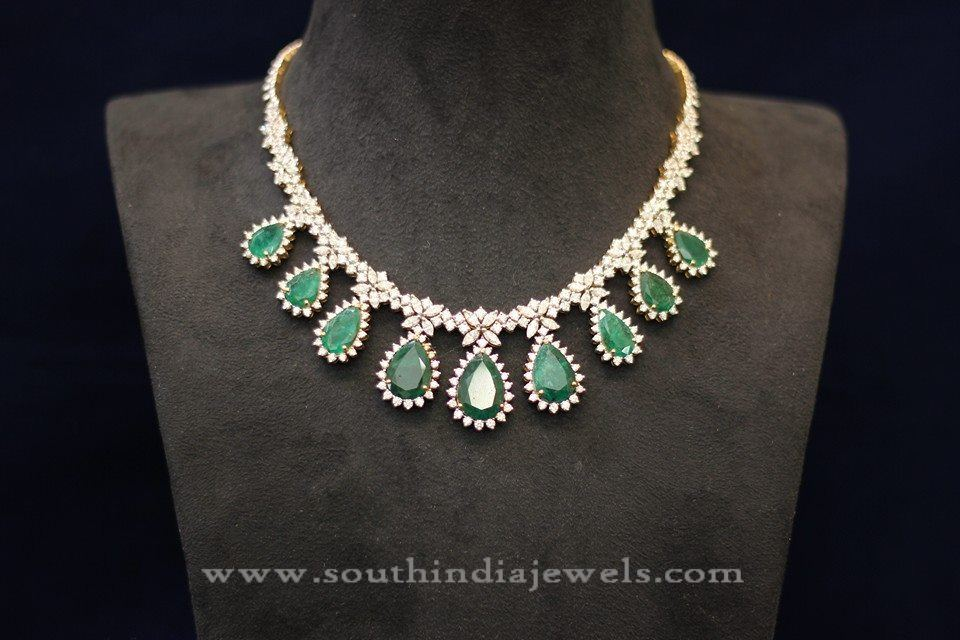 Diamond Emerald Designer Necklace