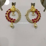 22K Gold Designer Ruby Earrings