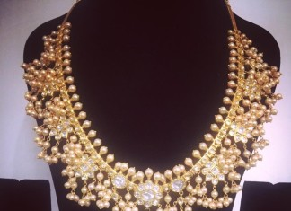 Gold Guttapusalu Necklace from Parnicaa