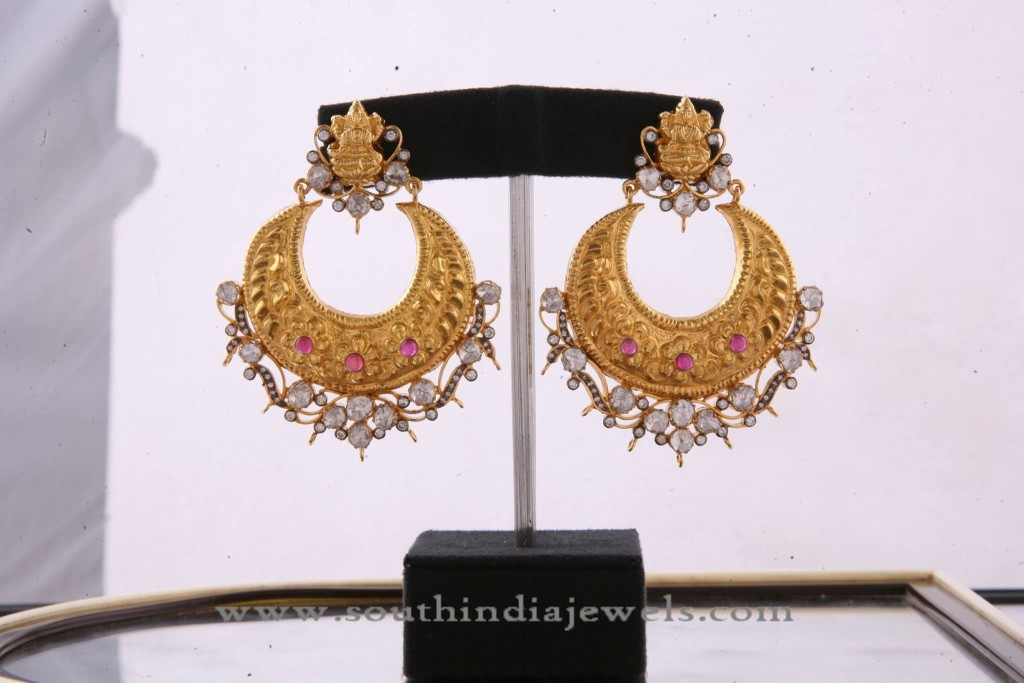 Gold Pacchi Chandbali Earring Design