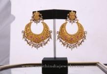 Gold Pacchi Chandbali Earring Design
