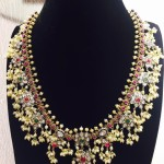 Gold Guttapusalu Necklace from Vithaldas Jewellers