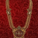 Gold Antique Long Haram from P.Satyanarayan & Sons