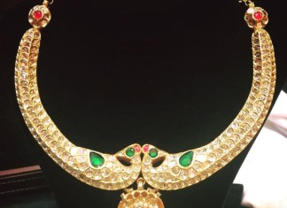 Gold Antique Kanti Necklace from Parnicaa