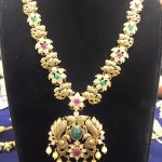Gold Antique Pacchi Long Haram Design